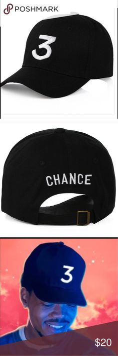 Chance black 3 hat Chance the Rapper black 3 hat Accessories Hats