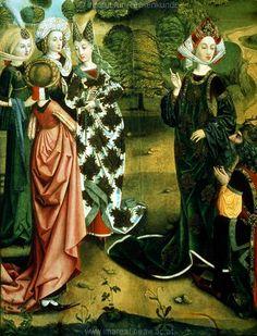 Augustus und die Sibylle von Tibur   Dieses Bild: 004667    Einrichtung sakral ; Flügelaltar   Dokumentation: 1495 ; 1505 ; Bamberg ; Deutschland ; Franken ; Staatsgalerie