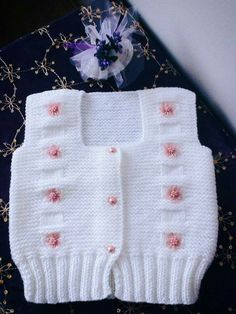 Baby Vest, Girls Sweaters, Bargello, Amigurumi, Stripes, Coast Coats, Tricot, Wings, Knitting
