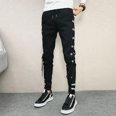 Korean Summer Men Pants Brand New Streetwear Harem Pants Men Slim Fit Hip Hop All Match Casual Trousers Men Clothes 2019 Harem Pants Men, Harem Shorts, Jogger Pants, Mens Trousers Casual, Casual Pants, Slim Fit Pants, Skinny Pants, Clothes 2019, Men Clothes