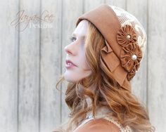 Rust and Lace Cloche Hat by GreenTrunkDesigns