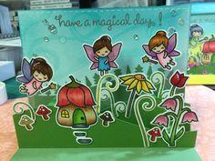 Lawn Fawn Fairy Friends, LF Stitched Hillside Pop-Ups
