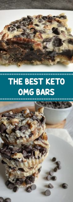 dark chocolate chips, Keto, Lilys, OMG You have not tried the only cookie/bar you'll never need again until you try these Keto OMG Bars. As their name explains, they are OOOOOMMMMMGGGG Low Carb Sweets, Low Carb Desserts, Low Carb Recipes, Dessert Recipes, Diet Recipes, Slimfast Recipes, Juice Recipes, Recipes Dinner, Vegetarian Recipes