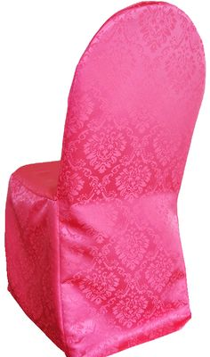 wholesale wedding jacquard damask chair covers, huge inventory of damask banquet chair covers, our jacquard damask banquet chair covers are available in many colors. Chair Cover Rentals, Banquet Chair Covers, Chair Ties, Spandex Chair Covers, Marquis, Floor Chair, Sash, Damask, Color