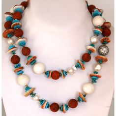 Coral and Turquoise Jewelry | Coral Necklace