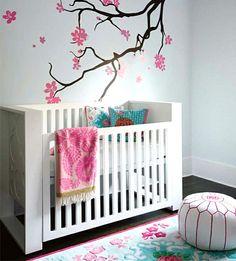 Nice wei es bett modell babyzimmer streichen sch ne bemalungen