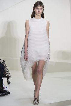 Round Volume Full Ruffles Dress | Christian Dior Spring Summer 2014 #Couture #Fashion #Paris