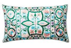 Vallejo 14x24 Embroidered Pillow, Multi