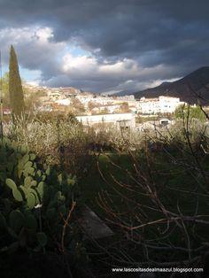 Cenes de la vega, en un día de tormenta!.Ya estaban en flor los frutales ,así que era Febrero.