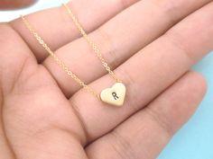 Gold Heart Necklace Gold Necklace Gold Heart by giftjewelryshop