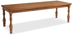 7' Vase Turned Dining Table - Bench | American Signature Furniture