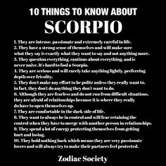 10 things to know about scorpios