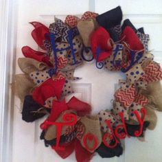 Hotty Toddy Ole Miss Wreath by BitsysBits on Etsy