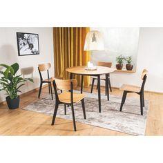 Stylowe Krzesło drewniane Tacoma dębowo-czarne Signal do jadalni i kuchni Dining Chairs, Furniture, Home Decor, Products, Decoration Home, Room Decor, Dining Chair, Home Furnishings, Home Interior Design