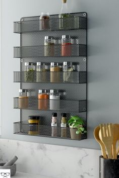 Metal Spice Rack with Shelves