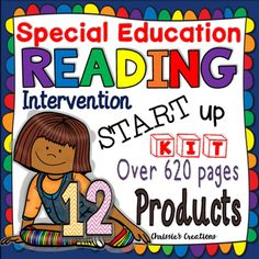 Special education reading startup kit is the perfect addition to any Intervention Curriculum.  It will keep you organized and prepared! **COMPRESSED FILE**This compressed file includes Printable PDF files as well as PowerPoint files.  **WHO IS THE READING START UP KIT FOR?**The Reading Startup kit is for any Special Education teacher *self contained or resource*, any classroom that conducts RTI.