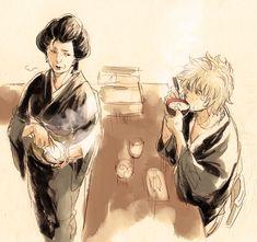 Otose & Gintoki. Gintama