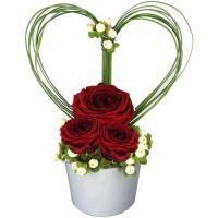 GRIOTTE Arrangement Floral Rose, Valentine Flower Arrangements, Basket Flower Arrangements, Creative Flower Arrangements, Ikebana Flower Arrangement, Valentines Flowers, Beautiful Flower Arrangements, Floral Arrangements, Beautiful Flowers