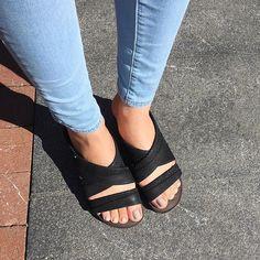64aa7df24438 New OTBT Women s Sandals Departure in Black. Monochrome FashionPerfect Match SnugWedge ...