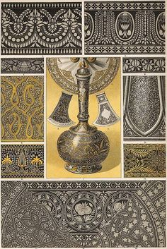 A study of Indian metal-work, 1880's.