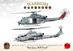 """UNITED STATES MARINE CORPS MARINE LIGHT ATTACK HELICOPTER SQUADRON 167 HMLA-167 """"Warriors"""" 2012"""