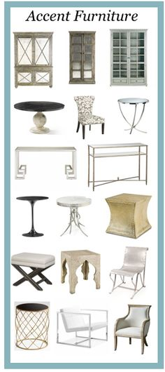 The South Shore Decorating Store is an affiliate of one of the largest home decorating stores in the country, Arcadian Home.  I started the on-line store with them because they have an enormous selection and the best prices on high quality items.  In fact, there is a 120% price guarantee on everything.      Click to view all Accent furniture