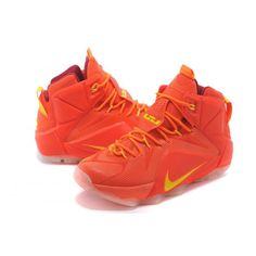 new concept 1517c 73fdf Nike LeBron XII EP Orange Yellow Shoes Jordan 3, Air Jordan Shoes, Sneakers  For