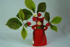 Strawberry Flower Child Waldorf  Inspired by KatjasFlowerfairys, €38.00