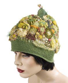 Freeform Crochet hat/beanie - forest-nymph by renatekirkpatrick, via Flickr