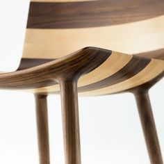 wafer collection by claesson koivisto rune for matsuso t dark and light wood stripes chair