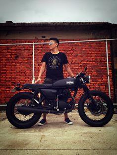 Wolf Motos Honda, Honda Bikes, Cafe Bike, Cafe Racer Bikes, Cafe Racer Motorcycle, Motorcycle Design, Café Race, Honda Cg125, Best Motorbike