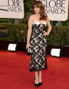 Tina Fey in L'Wren Scott at the Golden Globes 2013