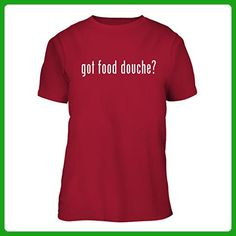 got food douche? - Adult Men's Soft T-Shirt Brand New Short Sleeve Tee, Red, Large - Food and drink shirts (*Amazon Partner-Link)