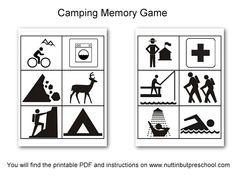 Camping Matching Memory Game