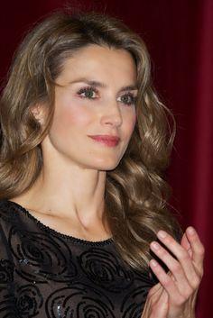 "HRH Princess Letizia of Asturias attended the ""Royal Academy of Language"" (RAE) ceremony 11/7/13"