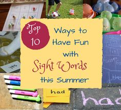 Learning sight words the fun way! From @Emma Zangs @ P is for Preschooler