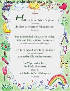 - Finger game / history of movement Finger game / history of movement spring Finger game - Kindergarten Activities, Activities For Kids, Finger Games, Kindergarten Portfolio, German Language Learning, Finger Plays, Kids And Parenting, Homeschool, About Me Blog