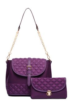 Checked Stitching Buckle Crossbody Bag