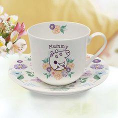 Personalised Mummy Peppa Pig Teacup & Saucer