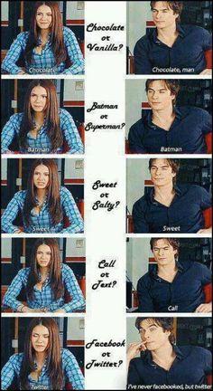 Two of a kind... Nina and Ian