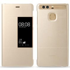 Official HUAWEI Smart Window Leather Flip Case Cover for Huawei P9 - GoldTechnical data:Flip case with window in the display coverPerfect fit for superior protectionReliable protection of the display from scratches and damageCut-outs for direct access to device functions and connectionsDurable artificial leatherWith Huawei back logoCompatible with Huawei P9