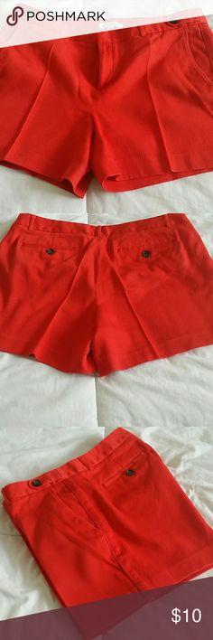 Red Banana Republic shorts A pair of red waffle fabric mid thigh Banana Republic shorts. Banana Republic Shorts