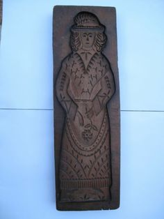 antique dutch wooden cookie mold gingerbread speculaas primitive hand carved
