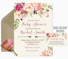 Girl Baby Shower Invitation Baby Girl Shower by PaperLimeDesigns