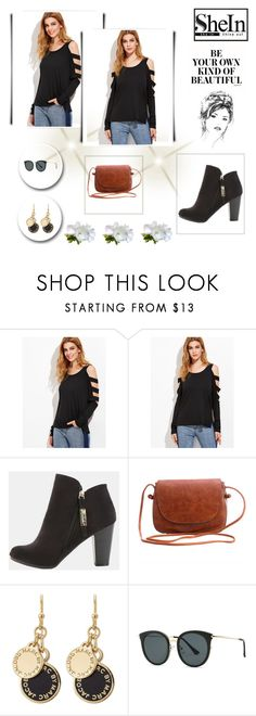 """Black Sleeve T-shirt"" by rboowybe ❤ liked on Polyvore featuring Marc by Marc Jacobs"