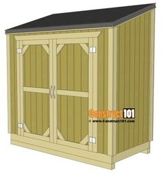 Lean to shed plans, free plans.
