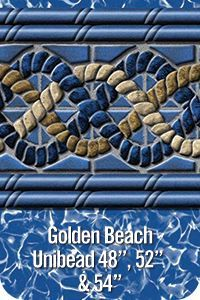 """GLI Pool Products Golden Beach Unibead Above Ground Pool Vinyl Liners for 52"""" Walls"""