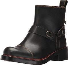 COACH Women's Moto Bootie Black Leather Boot  @ShoppeVero @Amazon @Want