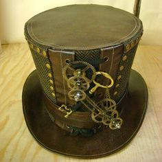 Steampunk Top hat. I want so bad!                                                                                                                                                                                 More