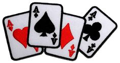 Playing Card Four Aces Poker DIY Applique Embroidered Sew Iron on Patch ** Click image for more details.